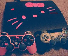 Hellokitty PS3 want! ♡ I can start playing ps3