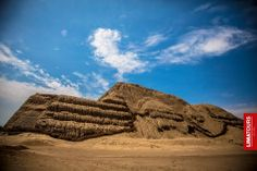 """Archaeological site """"Huaca del Sol"""" (Temple of the Sun) in northern Peru, considered a sanctuary of the Mochica culture."""