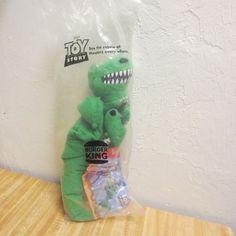 "Vintage Disney Toy Story Rex Burger King Puppet Doll Toy 1996 10"" #Disney"