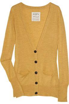 Muscatel merino wool cardigan, Aubin & Wills, $140