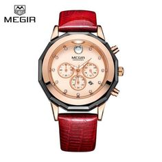 Megir Chronograph Watches Women Fashion Casual Watch Luxury Brand Quartz  Watches Clock Ladies Dress Wristwatch Relogio Feminino 32e0091fef3