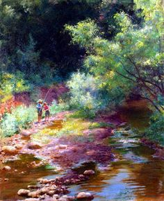 Along the Creek by Charles Courtney Curran