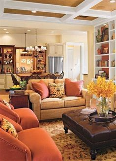 Warm Family Room Colors Good For The Walls Better Home And Garden Love