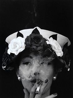 William Klein: 'Hat and Five Roses'. Vogue, 1958.