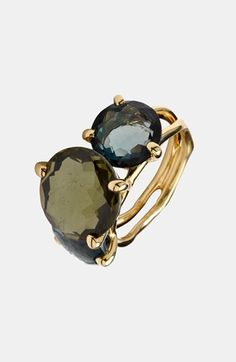 Ippolita 'Rock Candy-Gelato' 18 k Gold 3-Stone Ring