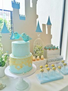 Amazing desserts at a Cinderella birthday party! See more party ideas at CatchMyParty.com!