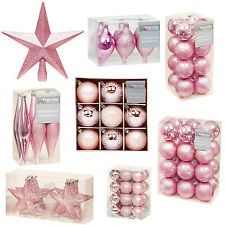 pink christmas tree decorations tree topper stars cones or baubles