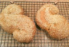 Pane Siciliano or Sicilian Bread Sprinkled with Sesame Seed Recipe -