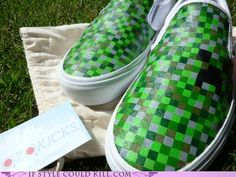 Minecraft inspired shoes