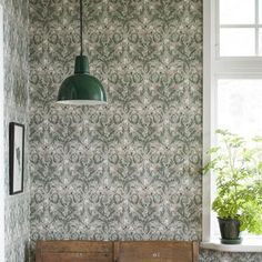 Swedish House, Pattern Wallpaper, Wall Colors, Dining, Interior Design, Inspiration, Home Decor, Room Dividers, House Ideas