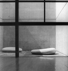 "Chichu Art (or Benesse House) Museum, Naoshima Island Japan (2004) | Tadao Ando | Artwork : Kan Yasuda's ""The Secret of the Sky"" (1996)"