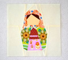 Shut the Front Door!  A Matroyshka Doll block ~ perfect for my daughter who went to Russia last summer.
