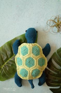 Crochet Sea Turtle - Free Crochet Pattern - Whistle and Ivy Crochet Turtle Pattern Free, Crochet Amigurumi Free Patterns, Easy Crochet Patterns, Craft Patterns, Crocheting Patterns, Amigurumi Tutorial, Crochet Dolls, Crochet Ideas, Sewing Patterns