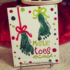 Mistletoes craft. Want to make these on paper with my kiddos!!