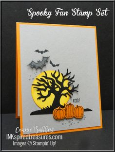 Connie's fun card featuring Spooky Fun and Halloween Scenes edgelits - all from…