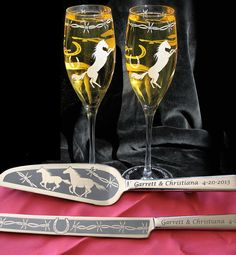 NEW Country Western Wedding Cake Server & Champagne by bradgoodell, $210.00
