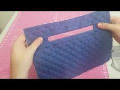 Como Fazer um Bolso Embutido com Zíper - YouTube Felt Crafts, Diy And Crafts, Patchwork Quilt, Quilted Gifts, Diy Purse, Handmade Bags, Craft Videos, Craft Tutorials, Zipper Pouch