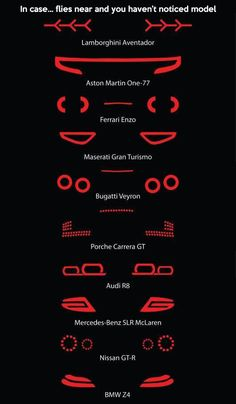 How to tell which super car you're behind.