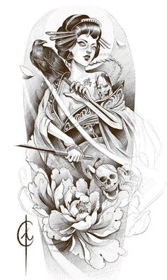 I incredibly fancy the tones, outlines, and depth. This is really a wonderful choice if you are looking for a Geisha Tattoos, Tatoo Geisha, Geisha Tattoo Design, Geisha Art, Tattoo Design Drawings, Tattoo Sketches, Arm Sleeve Tattoos, Tattoo Sleeve Designs, Leg Tattoos