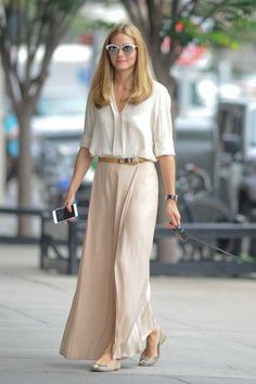 Olivia Palermo wearing Pretty Ballerinas Montreal Snake Flats, Dior Mirrors Sunglasses and Mulberry Evelina Belt