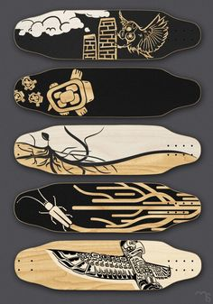 Skateboard deck graphics - Mike Serafin