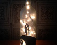 wine bottle light on Etsy, a global handmade and vintage marketplace.