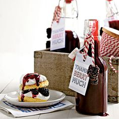Blackberry Syrup Gift Tag | Our Blackberry Syrup makes a pretty sweet gift when adorned with a custom gift tag. | SouthernLiving.com