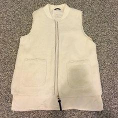 """Calvin klein """"performance"""" vest NWT 100% polyester, has wool type outer material and inner lining as well, can dress up or down! Perfect for fal/winter to layer with scarfs and statement necklaces, open to reasonable offers, no trades Calvin Klein Jackets & Coats Vests"""