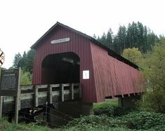 Chitwood Covered Bridge - Lincoln County, Oregon ~ Covered Bridges