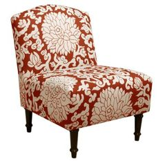 Check out this item at One Kings Lane! Geiger Armless Chair, Red/White