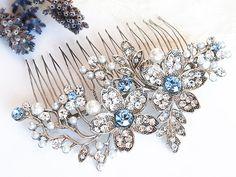 Wedding Hair Accessories Vintage Style Flower by GlamorousBijoux, $64.00
