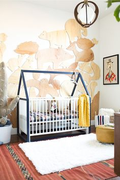 Discover our selection of original cots for baby nursery rooms - vintage, wooden, design, wicker, with a roof, painted, metal..
