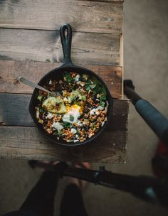 Chipotle Black Bean, Rice and Egg Skillet.