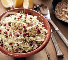 Ikaria Cabbage Pomegranate Superfood Slaw   Greek Food - Greek Cooking ...
