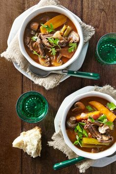 Because red wine makes everything better–including stew!