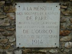 Stèle mémorial armée de Paris bataille de l'Ourcq Etrepilly