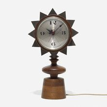GEORGE NELSON & ASSOCIATES Chess Piece table clock, model 2251