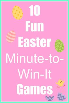 I love Minute-to-Win-It games.  They don't require a lot of supplies, they are short, easy to do, and always good for a few laughs! If you are looking for something fun to do with your family this Easter, you have come to the right place! Here is a list of supplies you will need for …