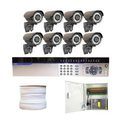 "Complete Professional 16 Channel Full D1 Network DVR (1T HDD) CCTV Surveillance Video System Package with (8) x 700TVL 1/3"" Exview HAD CCD II with Effio-e DSP Devices 2.8~10mm Varifocal Lens, 42pcs IR LED, 131ft IR Distance Outdoor Security Camera (1500ft RG59 Cable) by Gw. $1960.00. Package Includes: G-3016 16ch DVR with 1T HDD; Remote Control and mouse; 8 x G-706WD - 1/3"" Exview HAD CCD II Camera; 1 x G-1000RG59: 1000 Feet RG59 Siamese Power/Video Combo Cable; 1 x G-500RG59: 5..."
