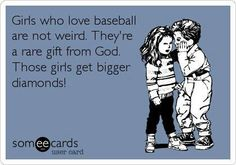 Girls who love baseball