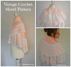 free crochet shawl , ideal baby blanket vintage pattern easy