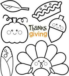 pink ink doodle thanksgiving coloring sheet