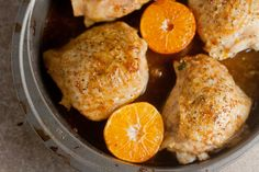 Clementine-Soy Chicken Thighs: I'm making this with Louisiana blood oranges