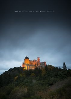 SIntra Palace by Fred Concha, via 500px    The Pena National Palace, popularly referred to only by Castle and Pena Palace of Pena, located in the village of Sintra, Portugal.