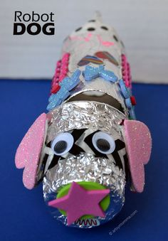 Cutest Robot Dog - Recycled Craft for Kids