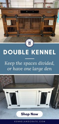 Looking for a kennel with enough space for your big dog? Check out these custom made luxury kennels from Kennel and Crate! Urban Farmhouse, Farmhouse Style, Wire Crate, Tattoos For Dog Lovers, Dog Lover Quotes, Dog Kennels, Dog Furniture, Dog Rooms, Crate Training