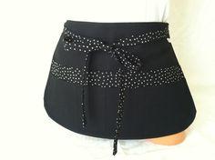 Black Stylist  Apron  Black Polka Dot Pockets Sexy by mizzeztee, $40.00
