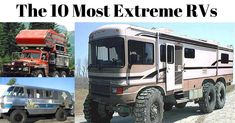 "These RV owners decided to take their RVs to the next level and create what most people would call ""extreme RVs."" Check out these 10 extreme RVs. My personal favorite is #7. #1. Extreme Family RV – Class A with a big lift and huge tires. #2. The Big Red Machine – This looks like [Continue Reading]"