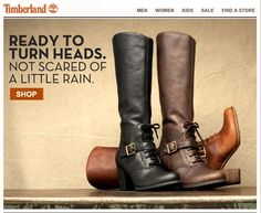 Trenton on Timberland home page