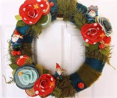 How to Felt Wreath - Bing Images